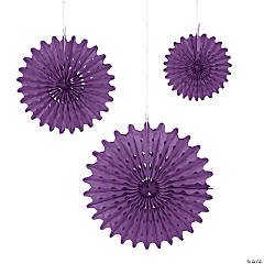 Purple Tissue Hanging Fans