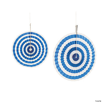 Blue Stripe Hanging Fans
