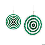 Green Stripe Hanging Fans
