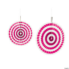 Hot Pink Stripe Hanging Fans