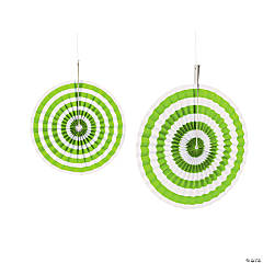 Lime Green Stripe Hanging Fans