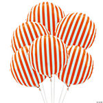 Orange Striped Mylar Balloons