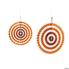 Orange Stripe Hanging Fans