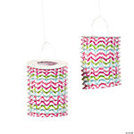 Chevron Pattern Fashion Lanterns