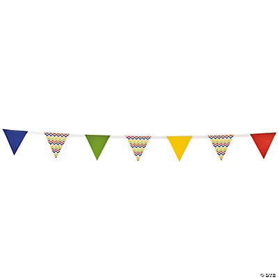 Chevron Pattern Bright Paper Pennant Banner
