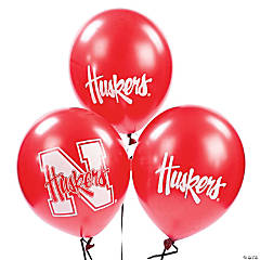 NCAA™ Nebraska Latex Balloons