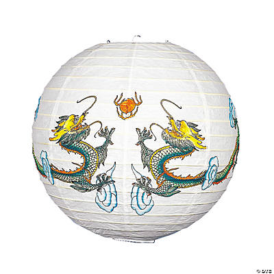 Lantern with Dragon Print