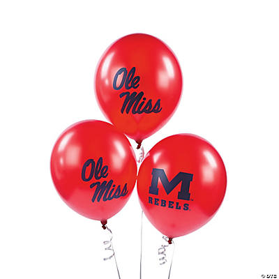 NCAA™ University of Mississippi Latex Balloons