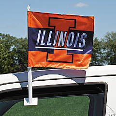 NCAA™ Illinois Car Flag