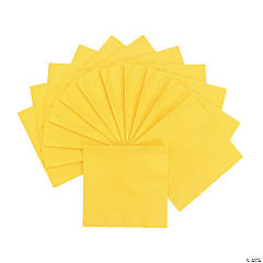 Personalized Lunch Napkins - Yellow