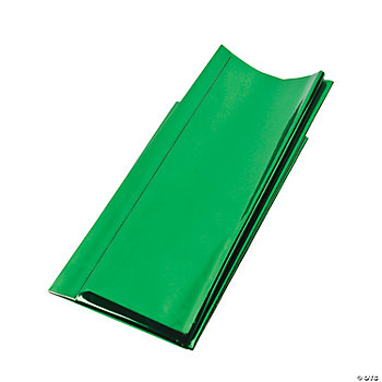 Foil Metallic Gift Wrap Sheets - Green