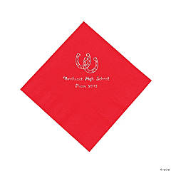 Personalized Western Red Luncheon Napkins