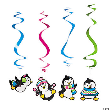 Penguin Party Dangling Swirls