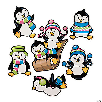 Penguin Party Cutouts