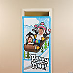 Penguin Party Photo Door Banner