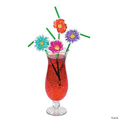 Straws With Flower Cutouts