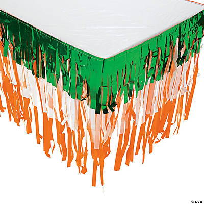 St. Patrick's Day Fringe Table Skirt
