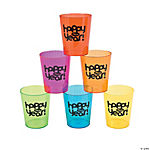 "Plastic ""Happy New Year"" Shot Glasses"