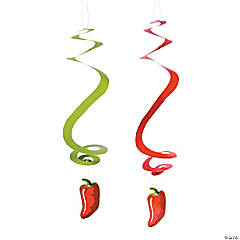 12 Chili Pepper Dangling Swirls
