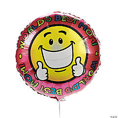 """World's Best Mom"" Mylar Balloons"