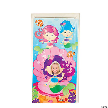 Mermaid Party Photo Door Banner