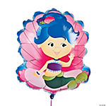 Mermaid-Shaped Mylar Balloon