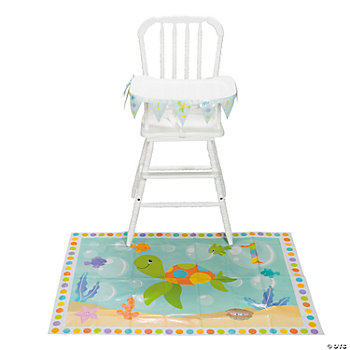 Under The Sea First Birthday High Chair Set