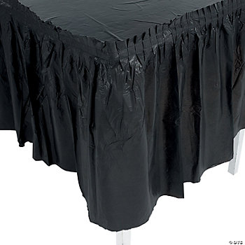 Black Pleated Table Skirt