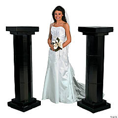 Medium Black Fluted Pillars