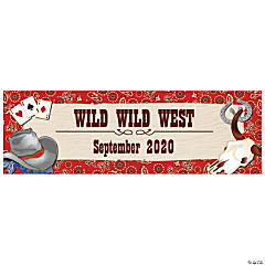 Personalized Large Western Banner