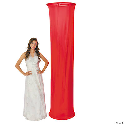 Red Fabric Column Slip