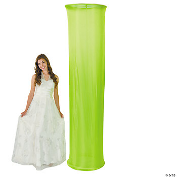 Lime Green Fabric Column Slip