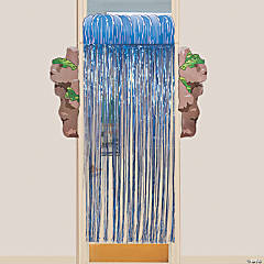 Waterfall Door Curtain with Border