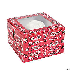 Red Bandana Cupcake Boxes
