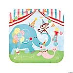1st Birthday Circus Dinner Plates