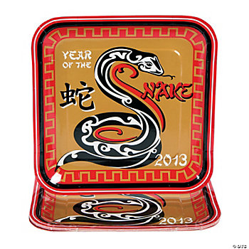 Year Of The Snake Square Dinner Plates