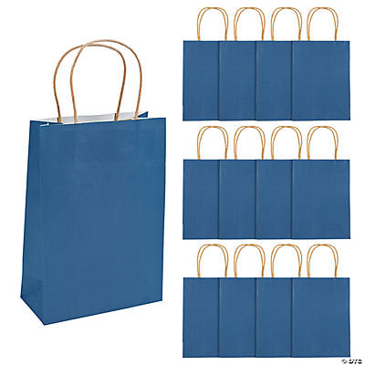 Medium Navy Craft Paper Bags