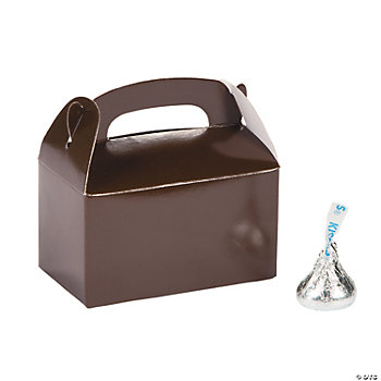 We have a wide array of favor boxes, candles, and edible items that feature a chocolate brown or mocha color scheme. Many items have an accent color such as pink, Tiffany blue, or ivory so that you can choose the brown wedding favor that will match your day perfectly.