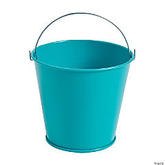 Turquoise Tinplate Pails with Handles