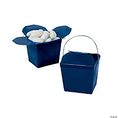 Navy Blue Takeout Boxes