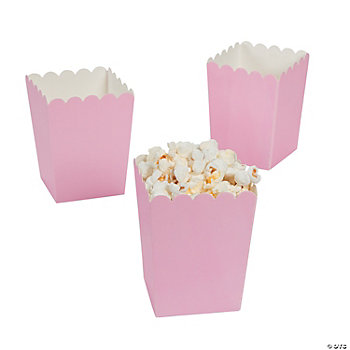 Mini Light Pink Popcorn Boxes