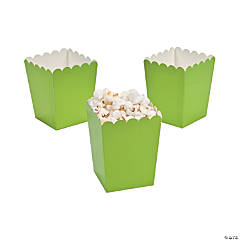 Paper Mini Lime Green Popcorn Boxes