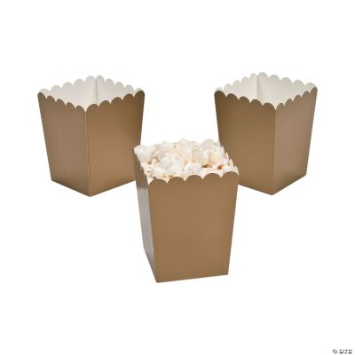 Mini Gold Popcorn Boxes