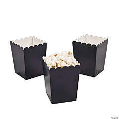 Mini Navy Popcorn Boxes