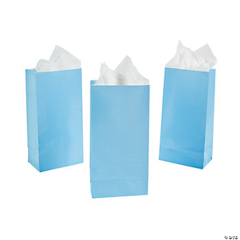 Light Blue Mini Treat Bags