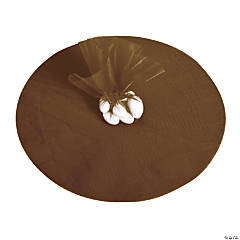 Chocolate Brown Tulle Circles