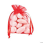 Red Mini Drawstring Bags