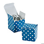 Blue Polka Dot Gift Boxes