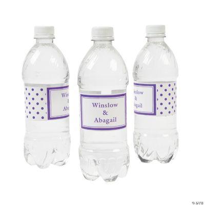 Purple Polka Dot Personalized Water Bottle Labels