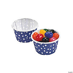 Purple Polka Dot Snack Cups
